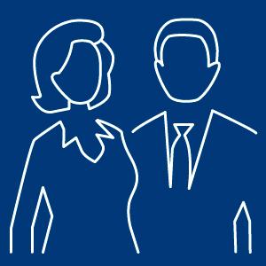 Business Team als Icon dargestellt